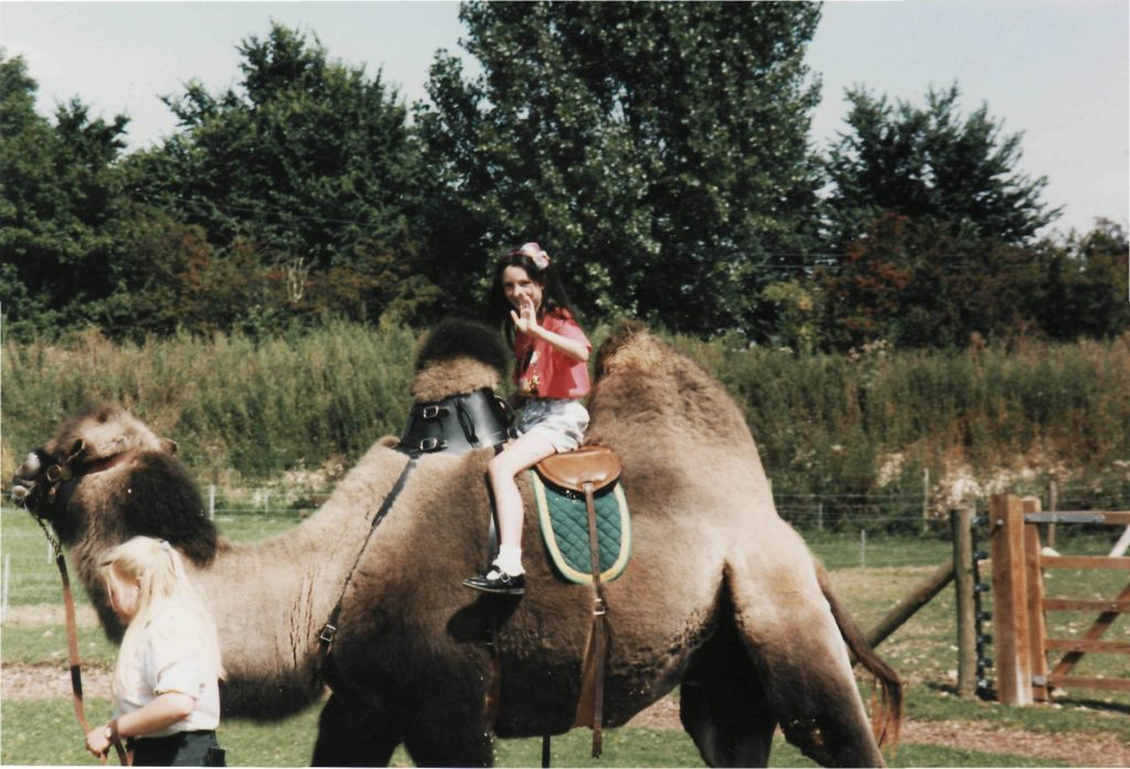 Amy on a Camel
