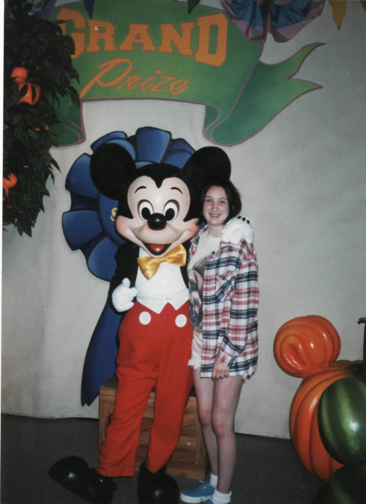 Amy and Mickey Mouse