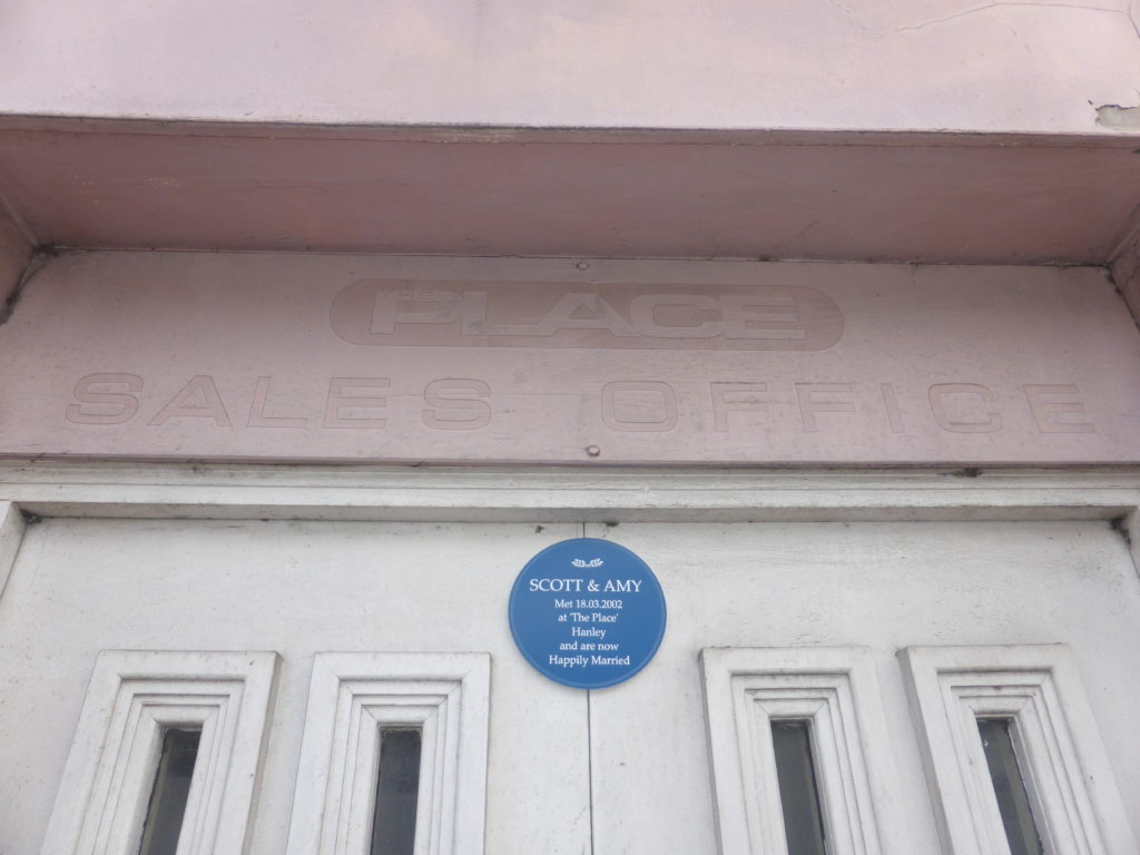 Blue Plaque on The Place Hanley