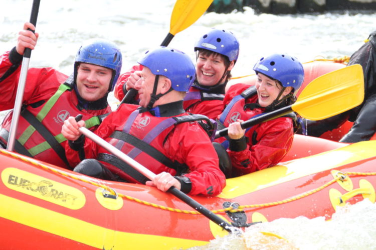 Romantic Nottingham National Water Sports Centre White Water Rafting