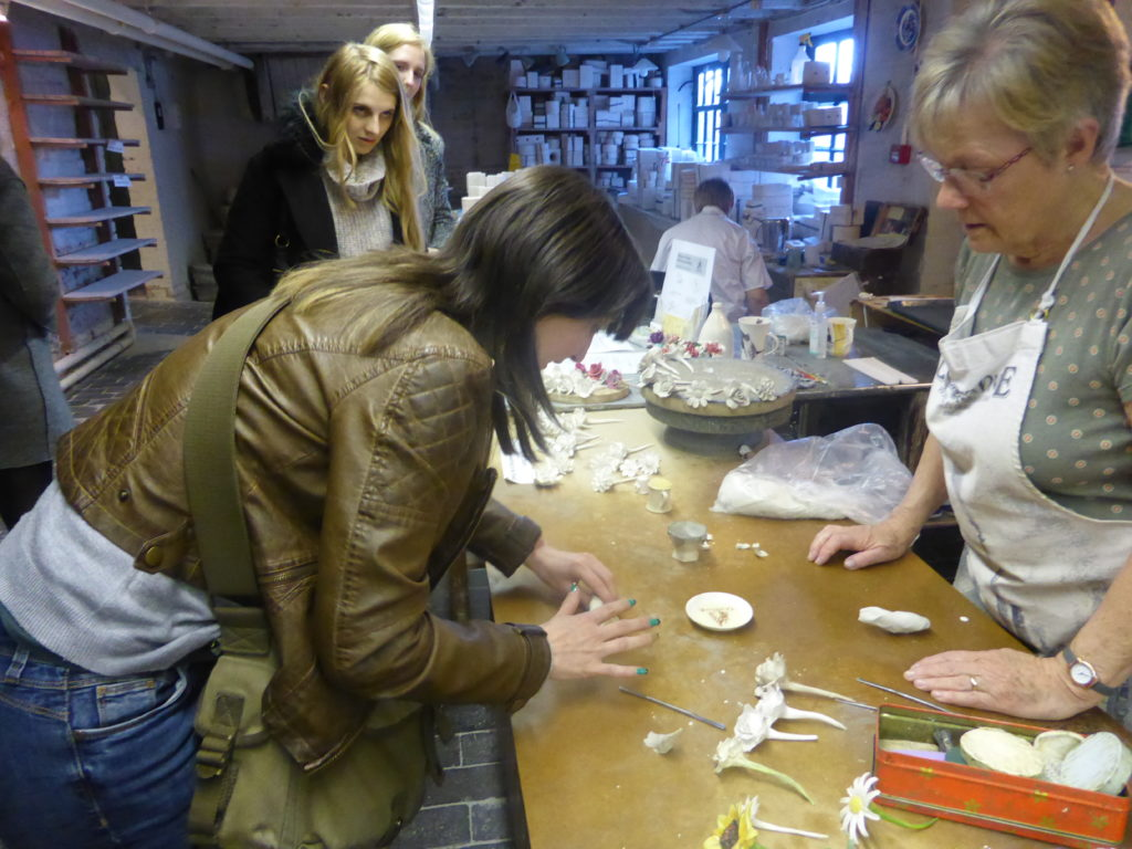 Gladstone Pottery Museum Flower Making Demonstrations