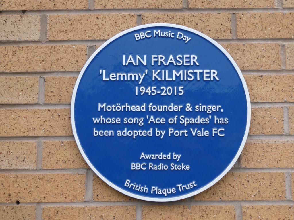 Lemmy Blue Plaque Unveiling Tony Iommi Vale Park