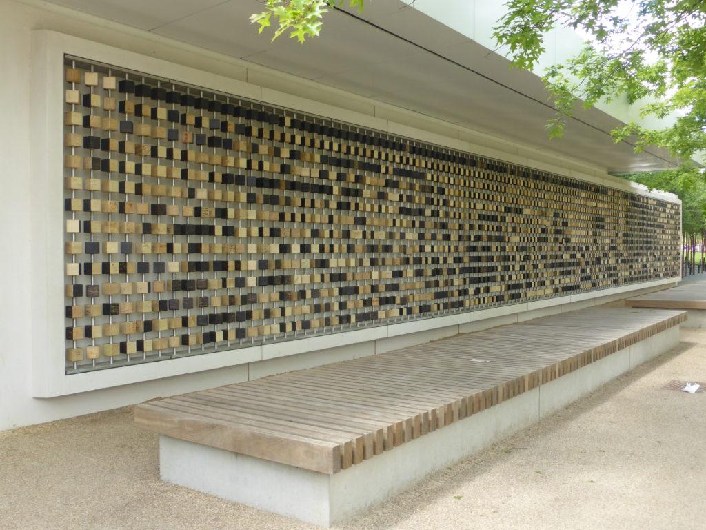 Queen Elizabeth Olympic Park Pixel Wall