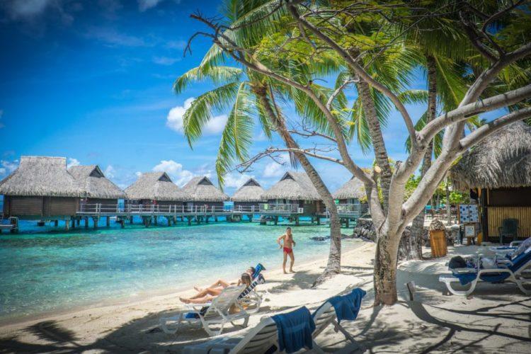 Best Beach Sunbathing Matira Beach Bora Bora Tahiti