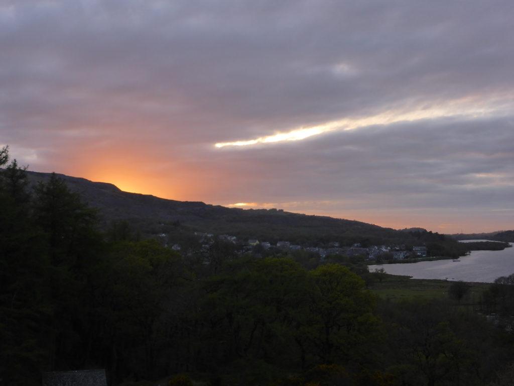 Dolbadarn Castle Llanberis Sunset