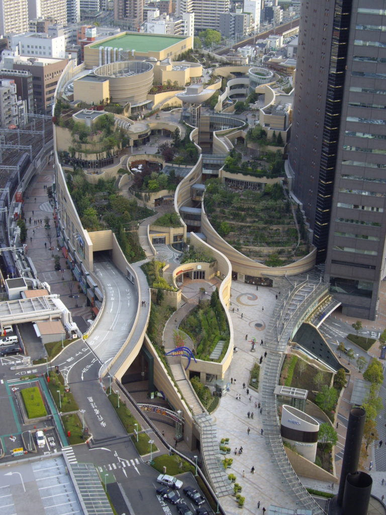 Namba Parks Osaka Japan