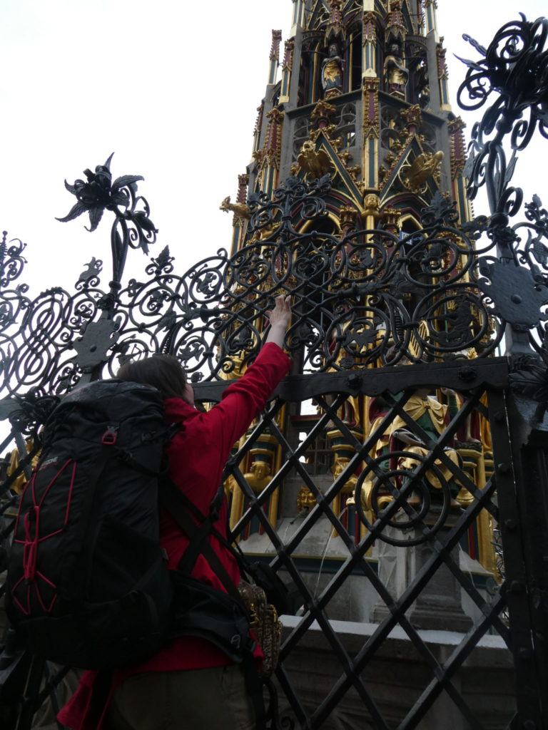 Touching the Ring at the Beautiful Fountain Nuremberg