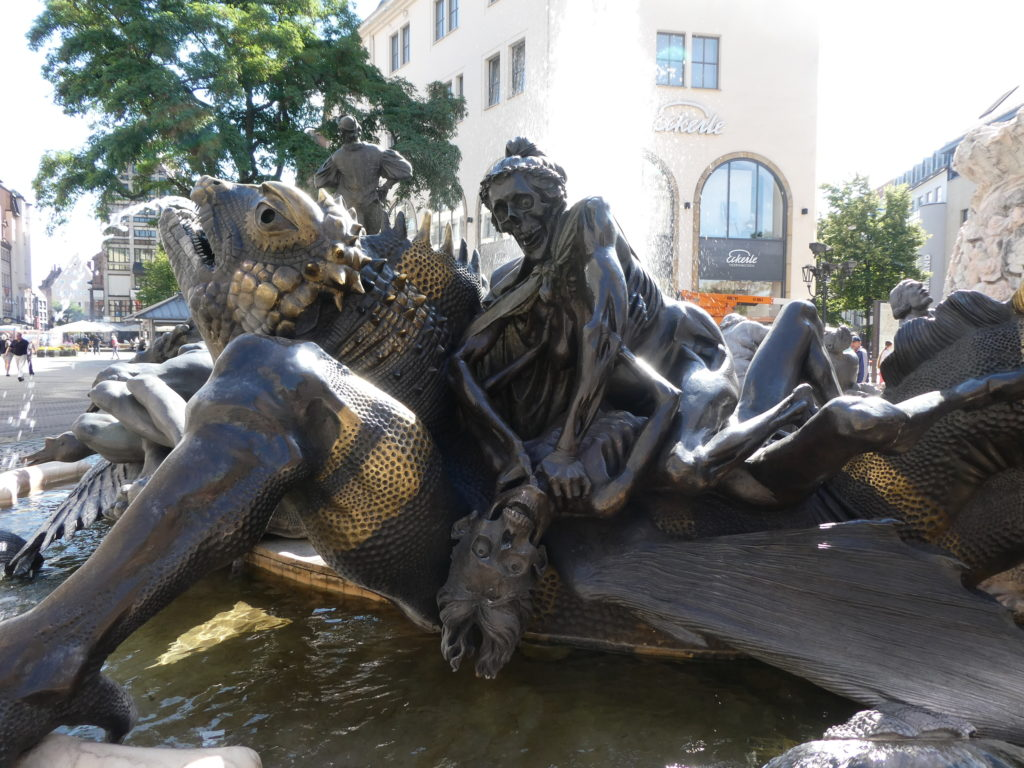 Nuremberg Germany - Marriage Merry-Go-Round Fountain