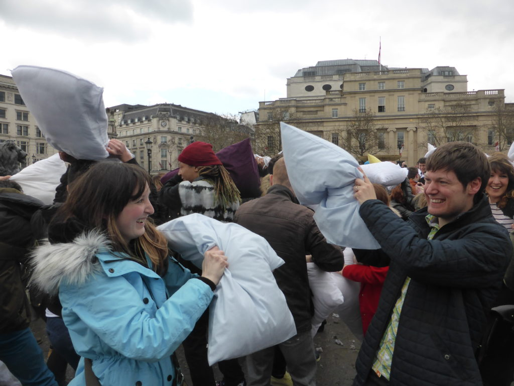 Romantic Central London International Pillow Fight Day