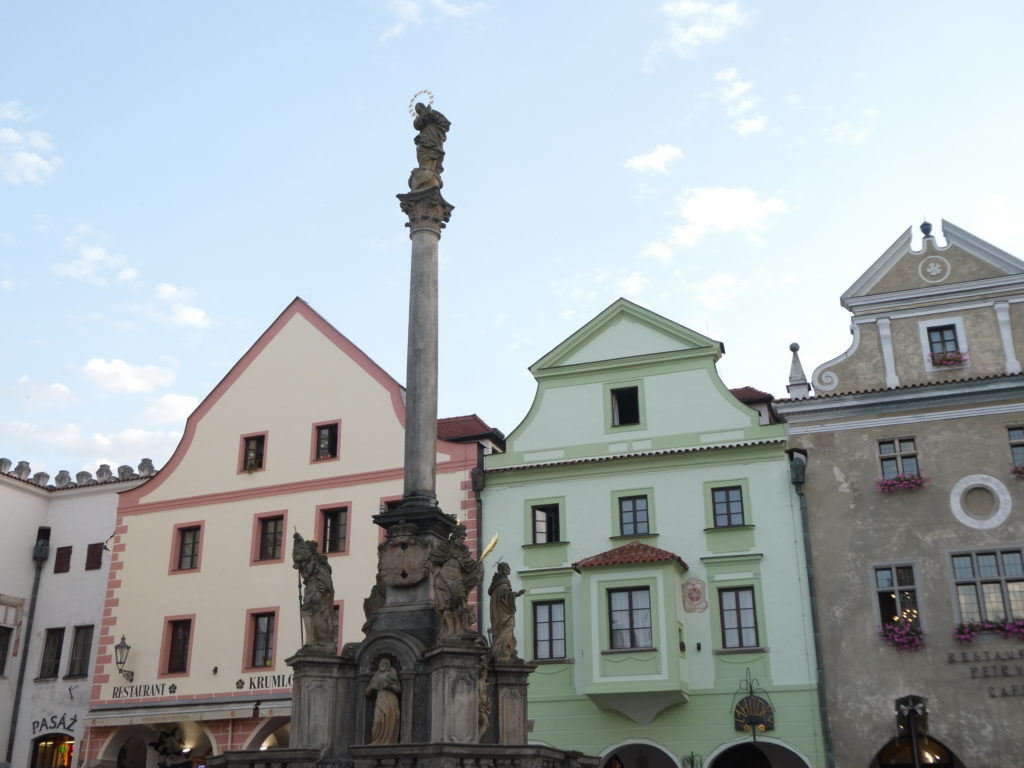 Cesky Krumlov Czech Republic - Plague Column