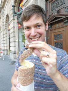 Andrassy Avenue Budapest Chimney Cake