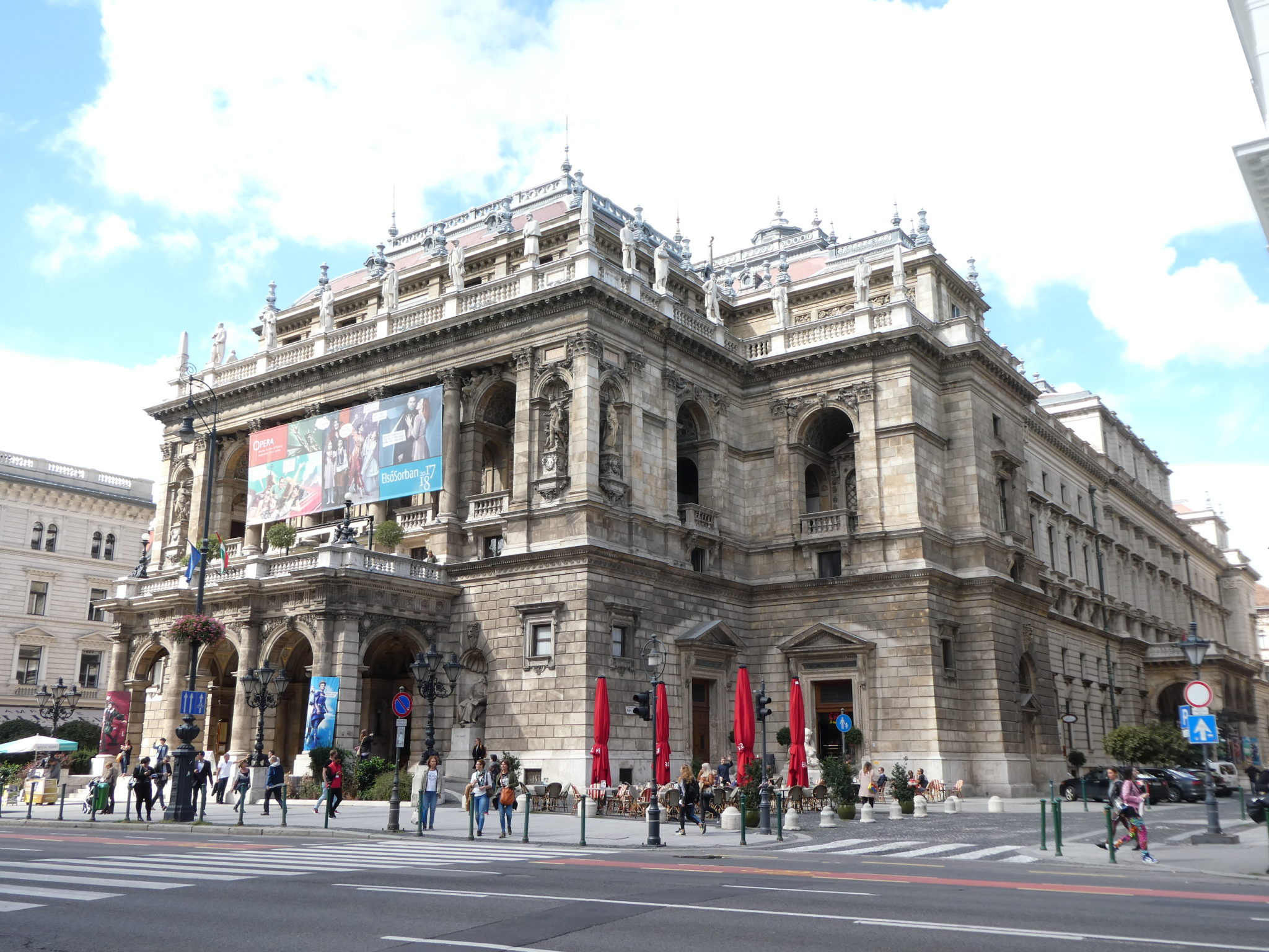 Andrassy Avenue Budapest State Opera House