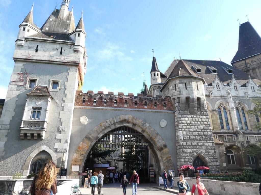 Andrassy Avenue Budapest City Park Vajdahunyad Castle