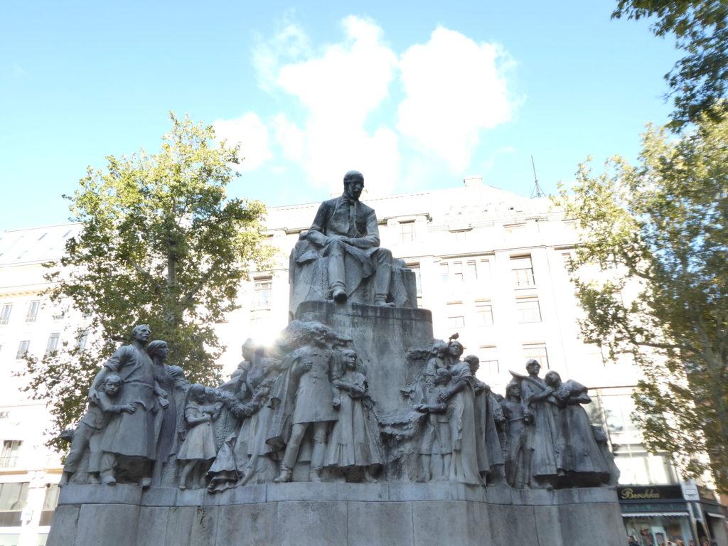 Vorosmarty Square Statue Budapest