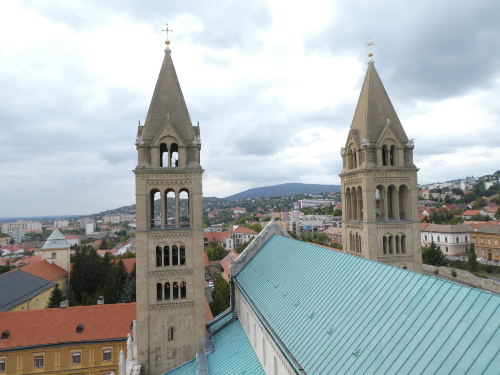 Pecs Cathedral Hungary - Bell Tower View