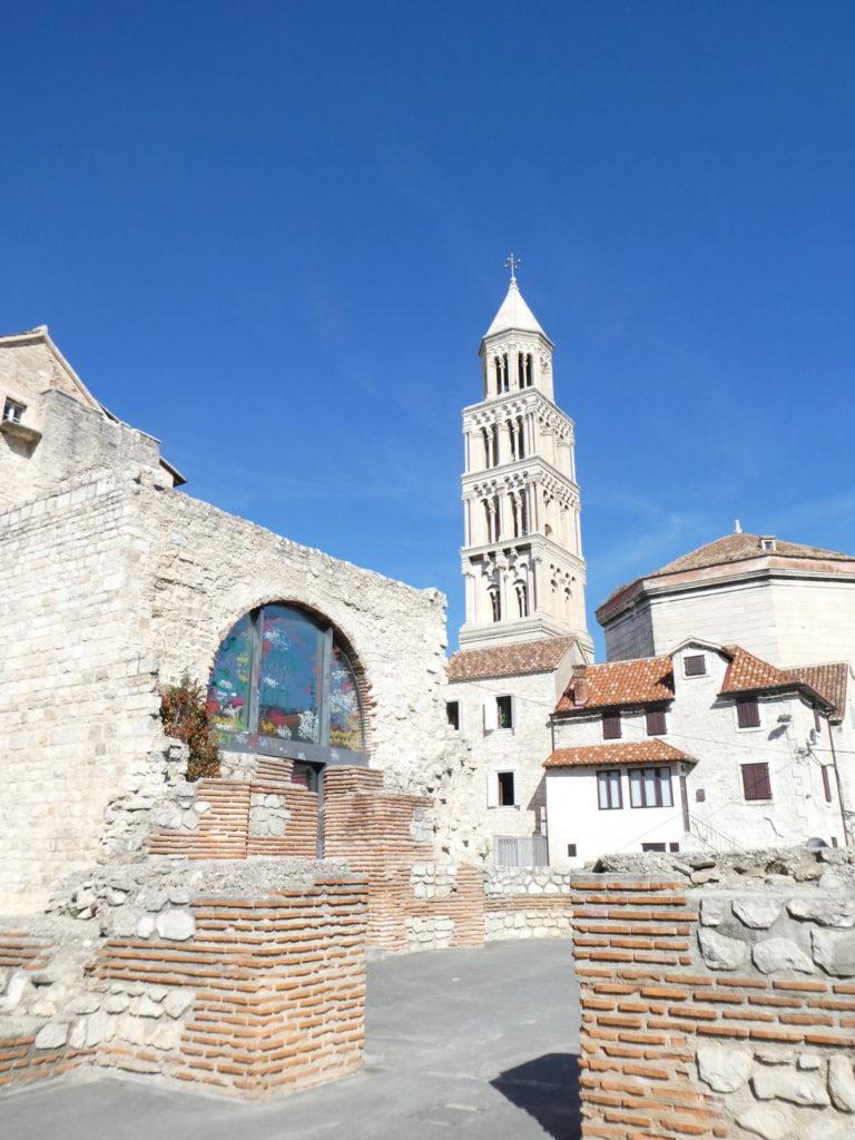 Split Croatia -Ruins Behind Diocletian's Palace
