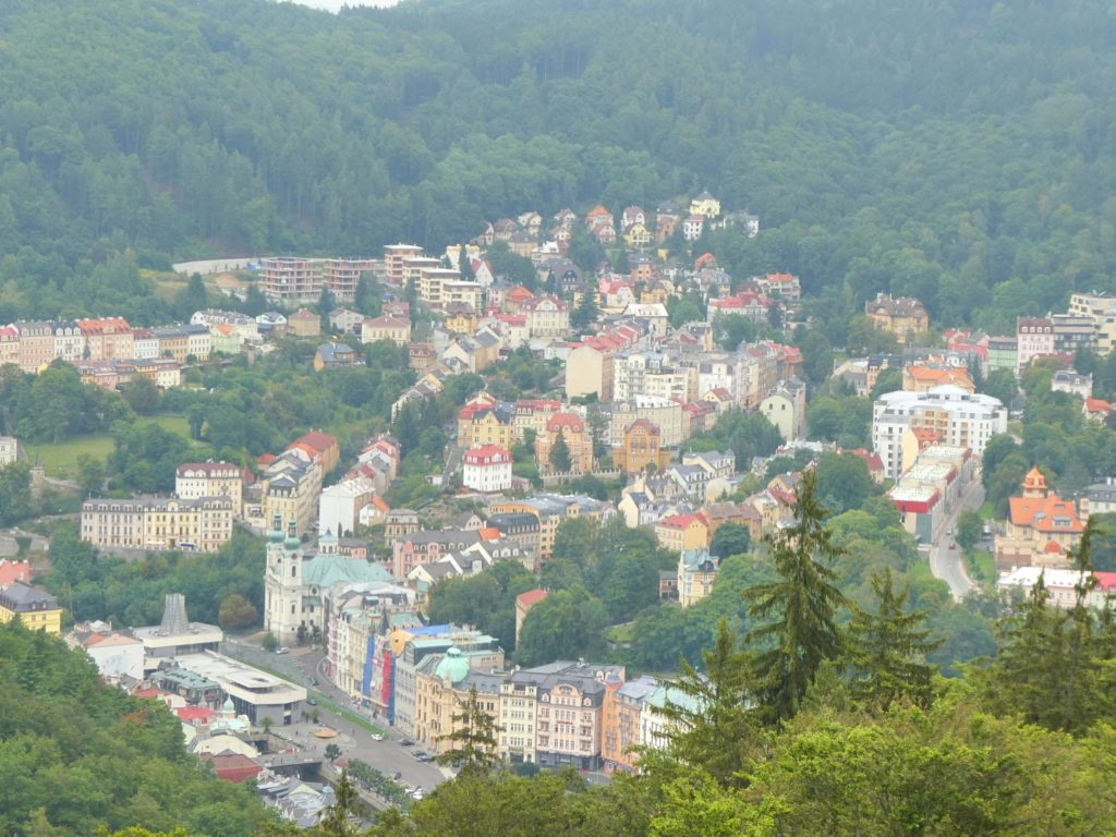 Karlovy Vary Czech Republic - View from Diana Lookout Tower