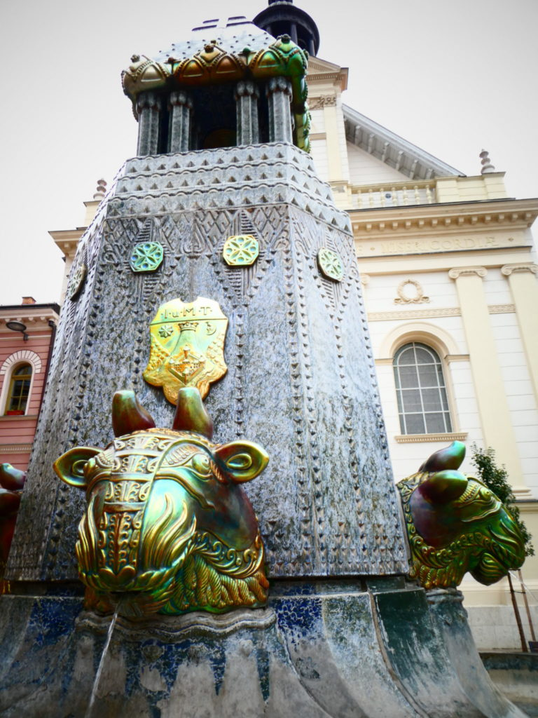 Pecs Hungary - Zsolnay Fountain Szechenyi Ter