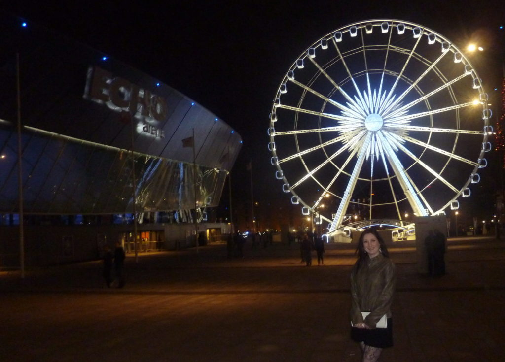 Liverpool England - Echo Arena and the Wheel of Liverpool