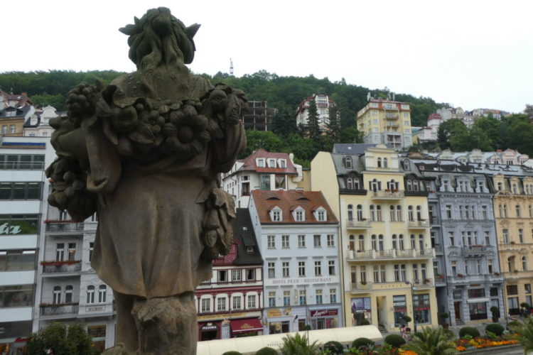 Karlovy Vary Czech Republic - View From Mill Colonnade