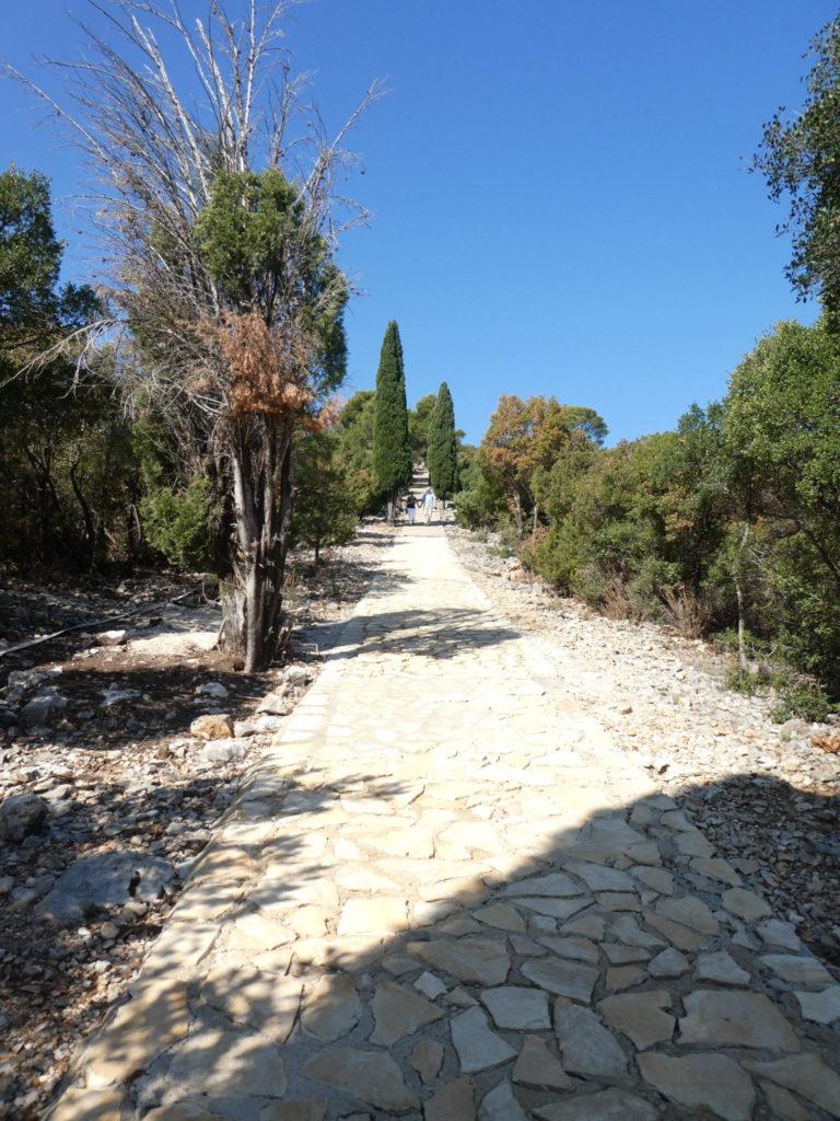 Lokrum Island Dubrovnik Croatia - Path to Fort Royal