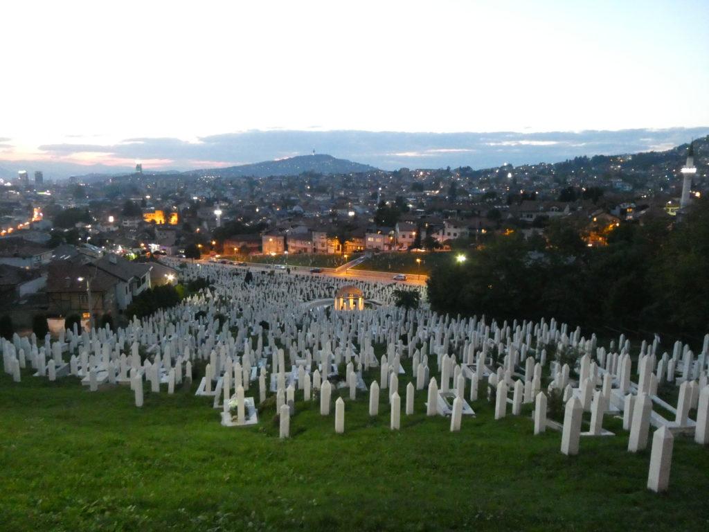 Graveyard below Yellow Fortress - Sarajevo, Bosnia and Herzegovina
