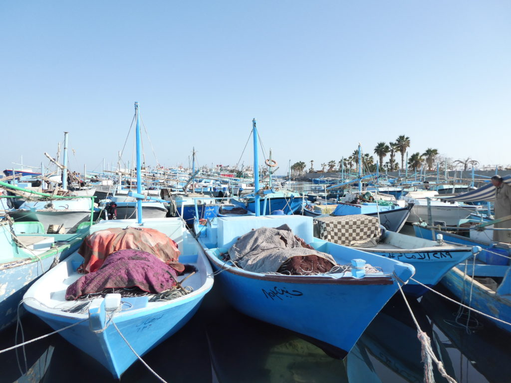 Blue Fishing Boats - Hurghada, Egypt