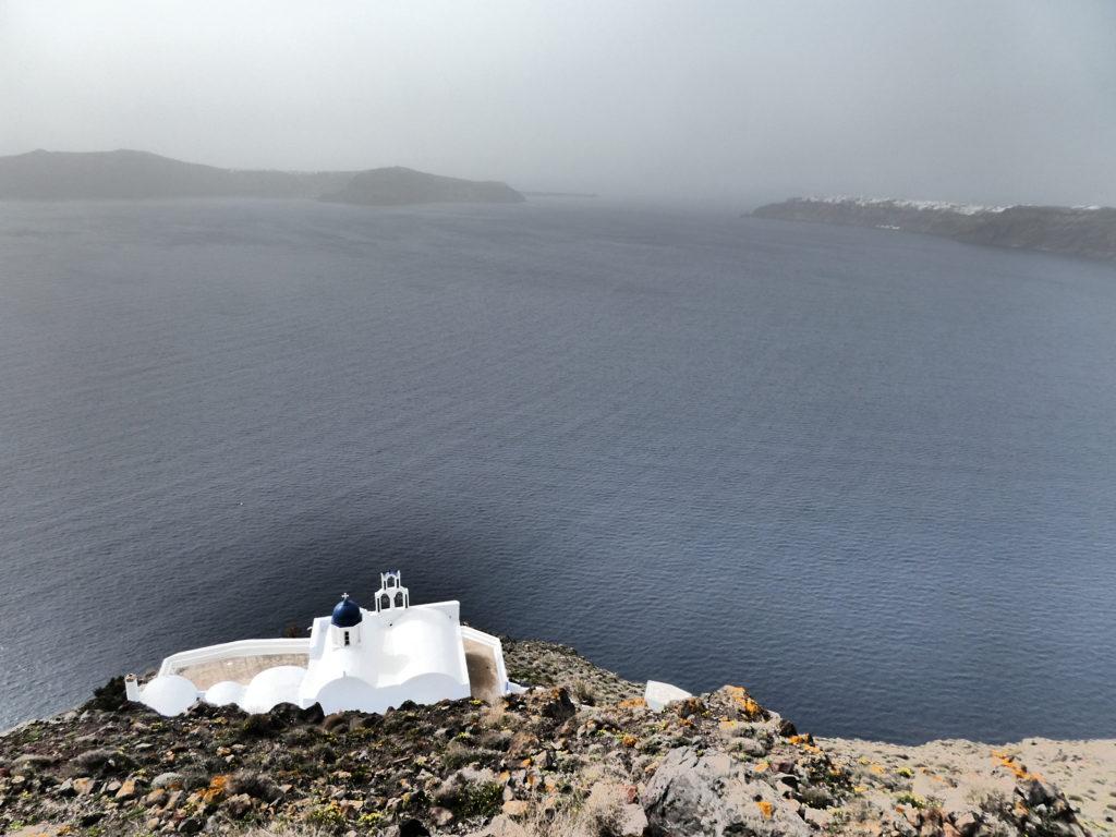16 Tips for Hiking between Fira and Oia, Santorini, Greece, Skaros Rock